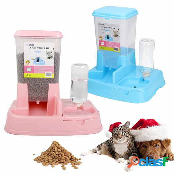 Cães gatos alimentador automático puppy kitty pet water drinker dispenser dish bowl