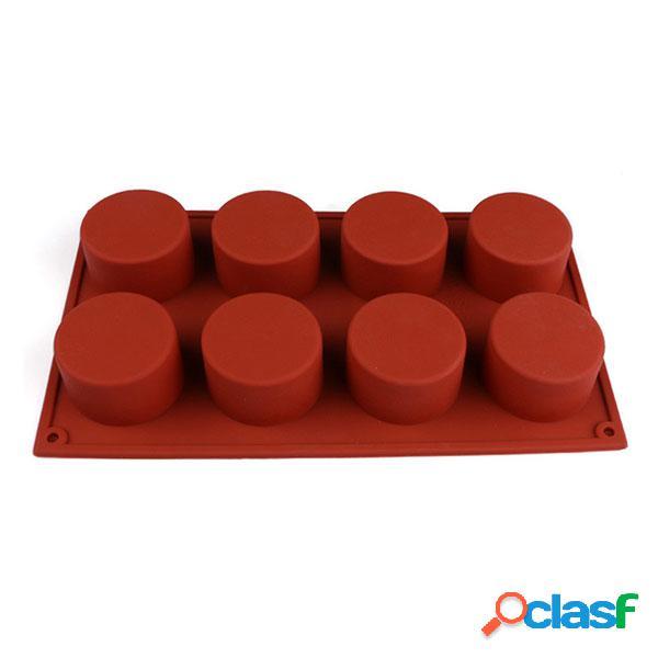 Molde redondo de silicone para bolo 3d 8 furos