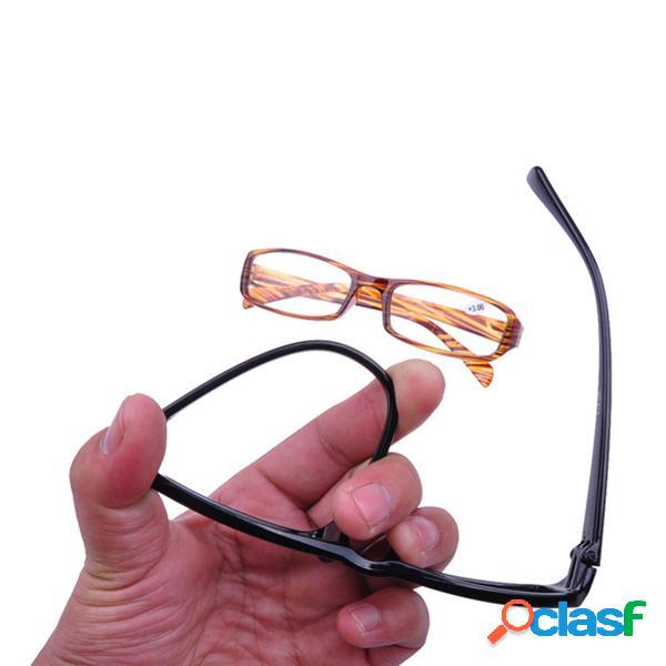 Óculos de resina leve para idosos