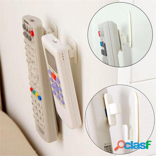 2 set tv controle remoto ar condicionado sticky hook self adhesive strong hanger holder wall sensor