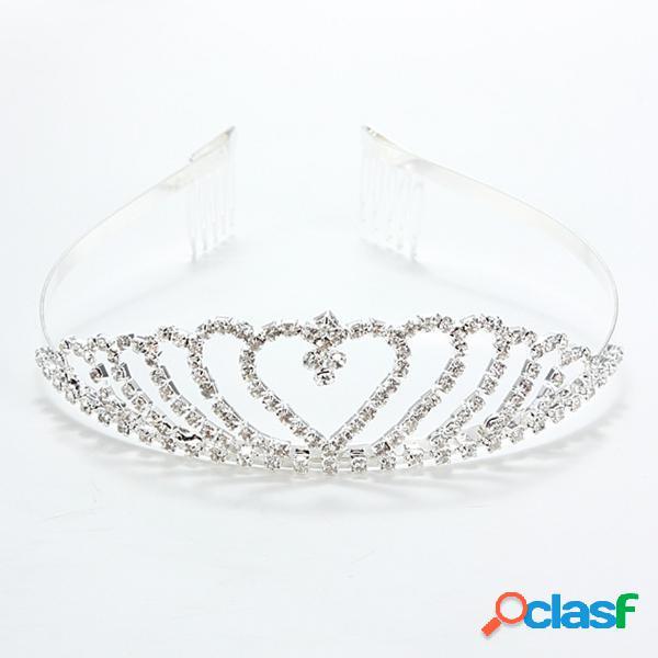 Faixa de cabelo crystal elegante para casamento