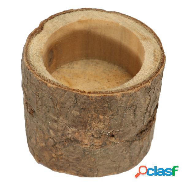 Madeira de madeira, vela, titular, árvore, ramo, rústico, castiçais, casamento, decoração