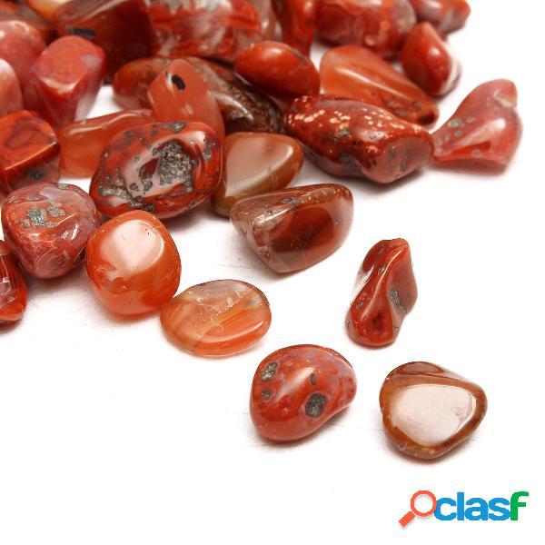50g diy 7-9mm red agate gravel stones onyx stone aquarium crystal