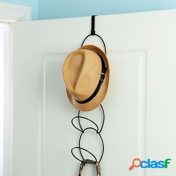 Cabide gancho de porta para chapéus roupas acessórios
