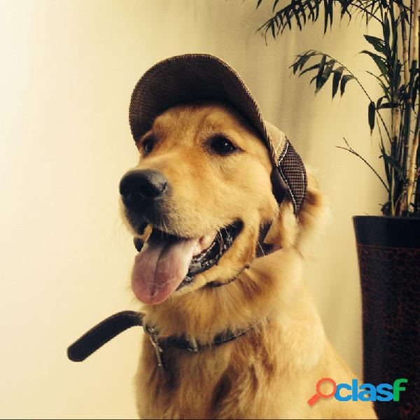 Baseball ajustável pet chapéu viagem ao ar livre chapéu summer sun protective cachorro chapéu