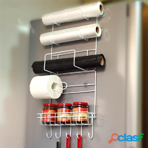 Estante lateral de geladeira com 6 camadas