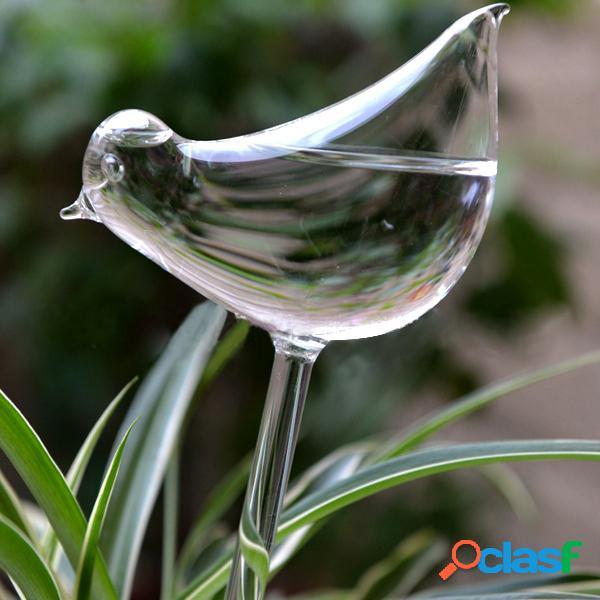Copo em forma de pássaro planta flor de feriado watering spike stake alimentador de água