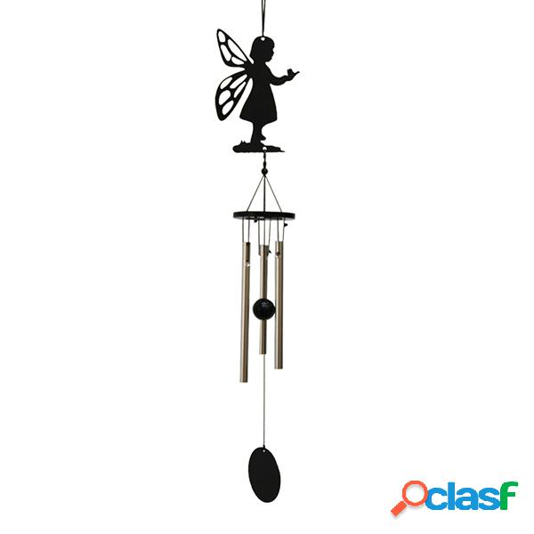 Metal windchime outdoor garden ornaments três tubes car bedroom living room home decor