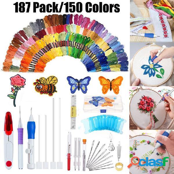 187 pçs / conjunto kit de bordado punch agulha bordado padrões