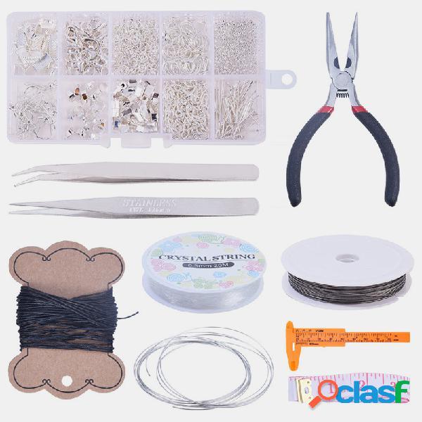 Diy handmade handmade brincos acessórios de material mini alicates conjunto de ferramentas de jóias