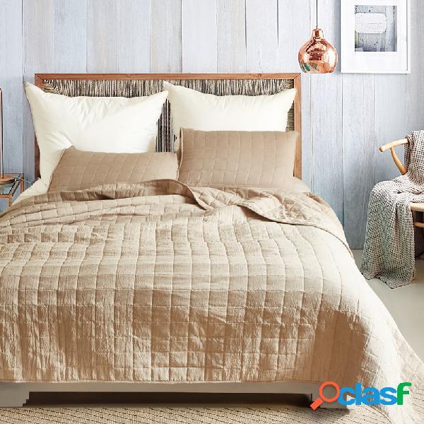 Cobertor de colcha de verão de luxo com malha sólida espessa soft quilt 3 unidades / conjunto colchas de colcha conjunto de colcha us queen