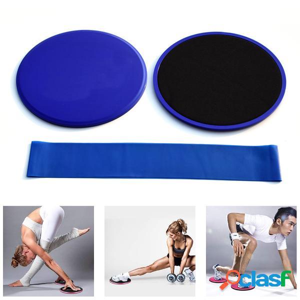 3pcs aptidão core sliders pad resistance bandas conjunto anti-slip gliding slider sport aptidão yoga esteiras