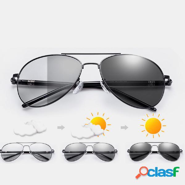 Óculos de sol dia e noite - uso dual - mudança de cor óculos visão noturna pesca de condução óculos