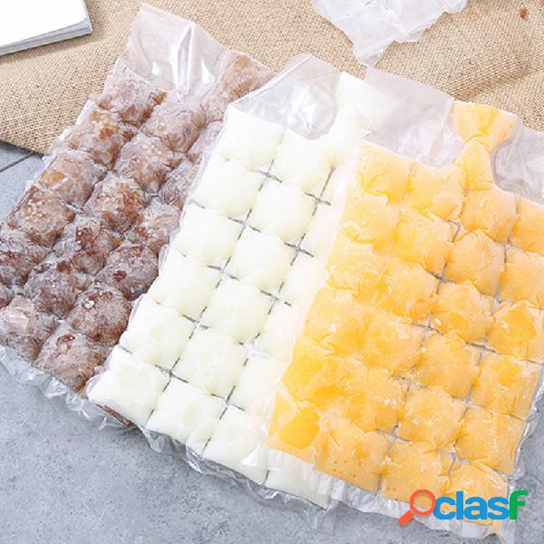 10 unidades / pacote pacote de gelo descartável de auto-vedação de verão gelo congelado cube grade de gelo de molde bolsa