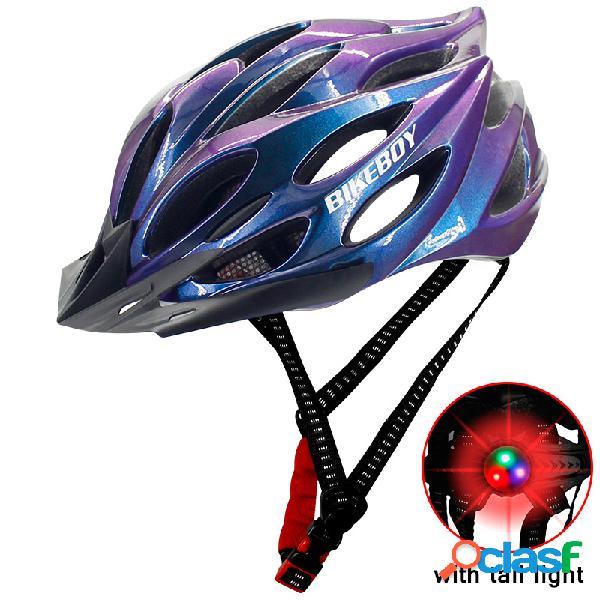 Capacete de bicicleta equipamento de equitação capacete com luz traseira capacete de equitação multicolor para homens capacete de molde integrado homens leves e respiráveis mountain bike