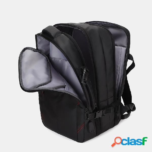 Homens 15,6 polegadas usb de carregamento laptop de negócios multifuncional à prova d'água bolsa mochila