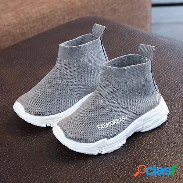 Tênis unissex infantil tecido confortável respirável soft solado