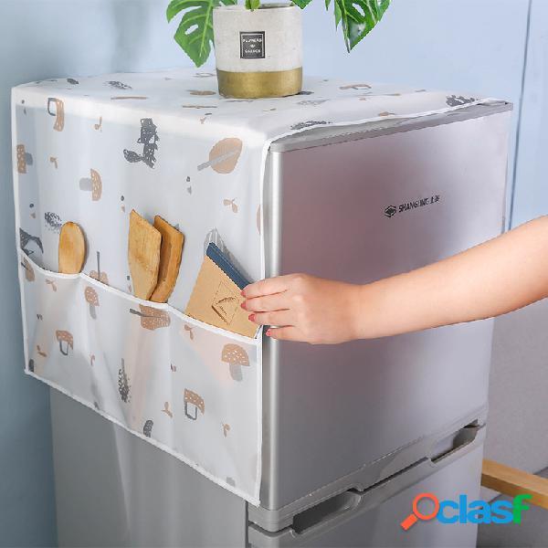 Capa de pano para geladeira doméstica capa contra poeira armazenamento do refrigerador bolsa capa transparente à prova d'água para refrigerador