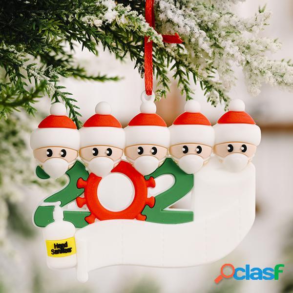 1pc 2020 quarentena natal aniversários decoração de festa produto para presente decoração de enfeite de árvore personalizada personalizada