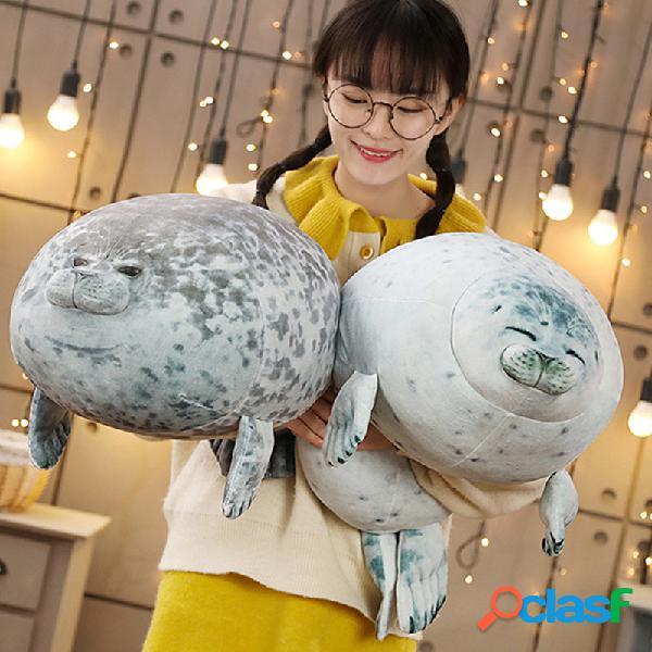 Almofadas de pelúcia de brinquedos de leão-marinho em 3d soft