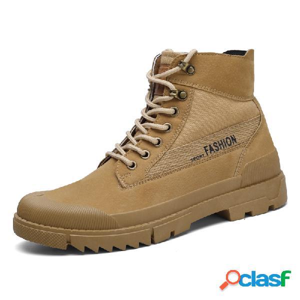 Sapatos masculinos de borracha com bico de borracha para ferramentas estilo bota alto estilo tornozelo