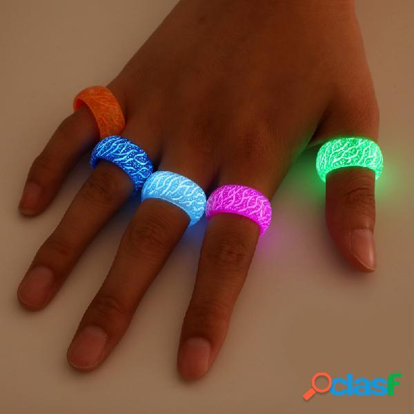 Moda criativa anéis luminosos de crack padrão anéis de resina homens mulheres casais geometria anéis de dedo