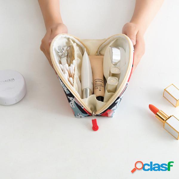 Cosmético bolsa armazenamento bolsa pequeno grande capacidade portátil mão impermeável viagem mini portátil simples