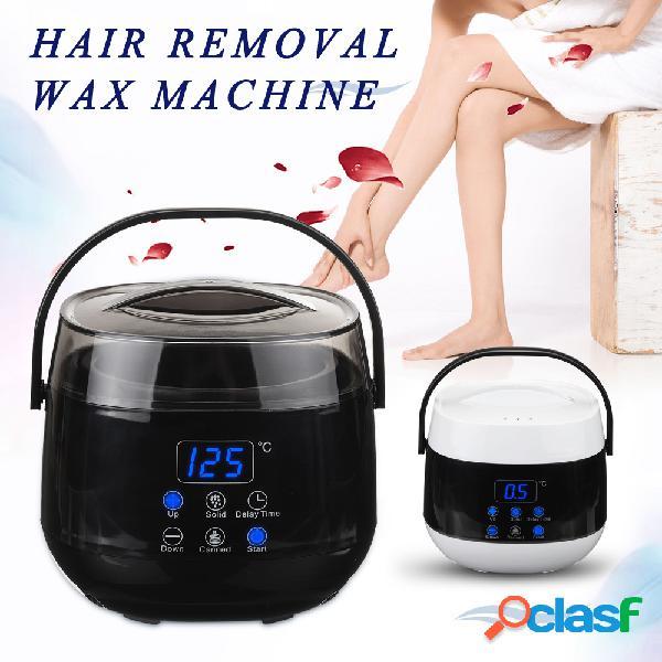 Led kit de depilação com cera limpa mais quente, indolor, cabelo kit de depilação com cera elétrica depilatória aquecedor