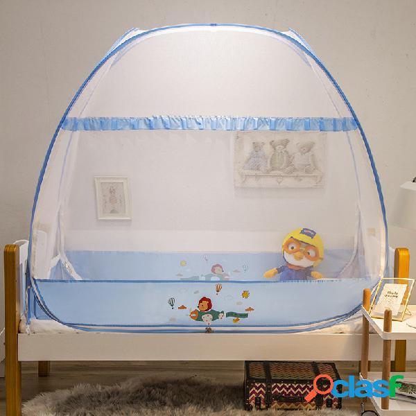 Rede mosquiteira berço yurt criança recém-nascida bebê rede mosquiteira rede estourada tampa para barraca instalação gratuita com dobragem inferior