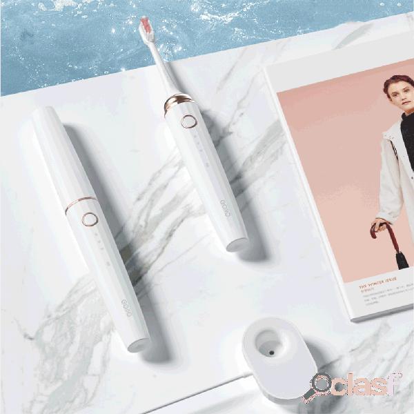 Mini portátil sonic escova de dentes elétrica 3 modo de carregamento sem fio à prova d'água de xiaomi youpin