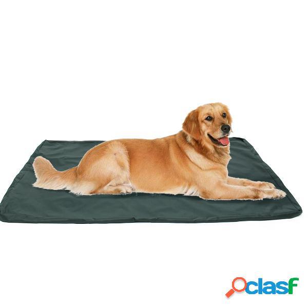 Casa impermeável dog bed grande capa lavável pet mat pad almofada osso vermelho
