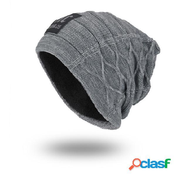 Homens mulheres malha de lã chapéu plus gorros ao ar livre caps nc etiqueta ao ar livre chapéus