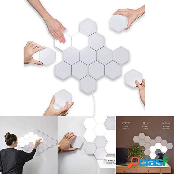 Led lâmpada de parede hexagonal quântica modular touch sensou luminária decouação de sala de estar