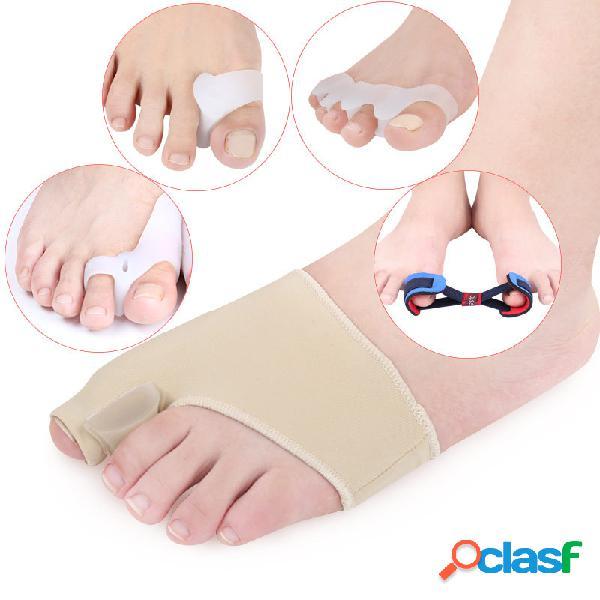 5 peças / set hálux valgo correção conjunto toe separação correção pad toe capa cuidados com os pés