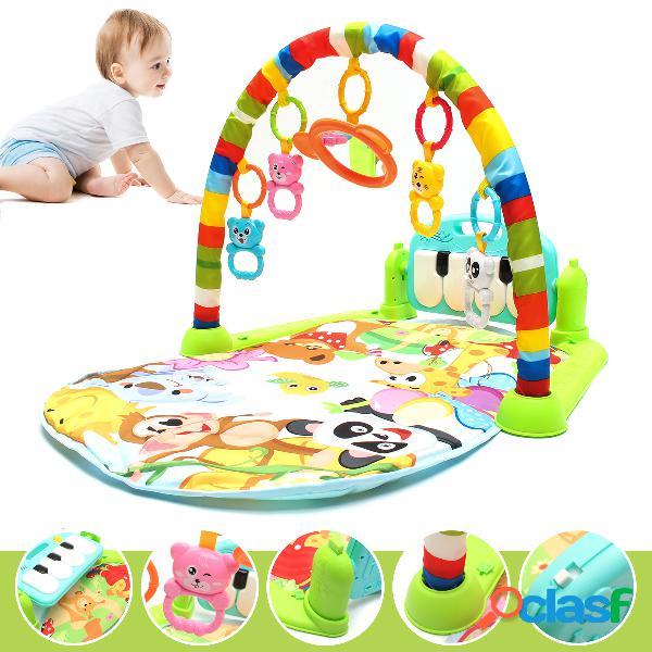 Tapete infantil crianças tapete puzzle educacional tapete com teclado de piano e esteira de animais bonito da criança academia atividade de rastejamento mat brinquedos