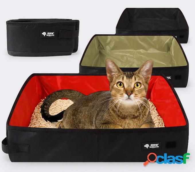 Oxford pano à prova d 'água dobrável cat litter caixa carro portátil suprimentos de viagem ao ar livre maca do gato