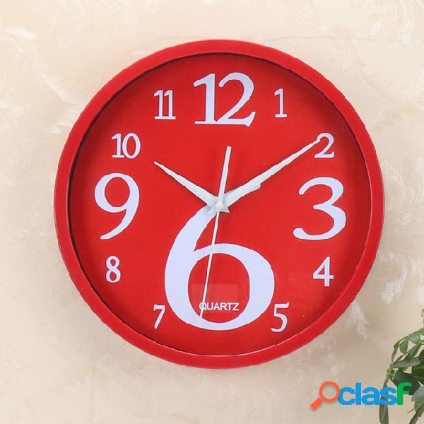 Parede home redonda relógio parede cor fluorescente creativa relógio parede home coreana relógio