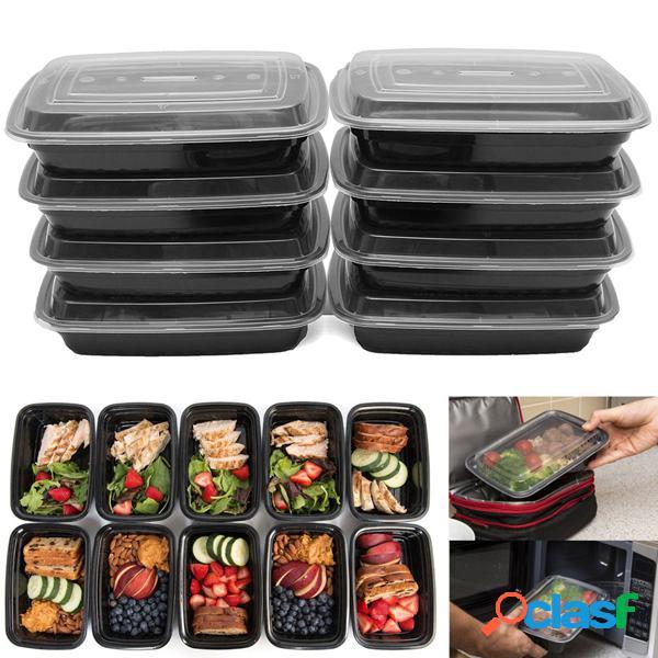 10 pcs 24 oz refeição prep recipientes de alimentos com tampas reutilizáveis microwavable bpa plástico livre almoço caixa