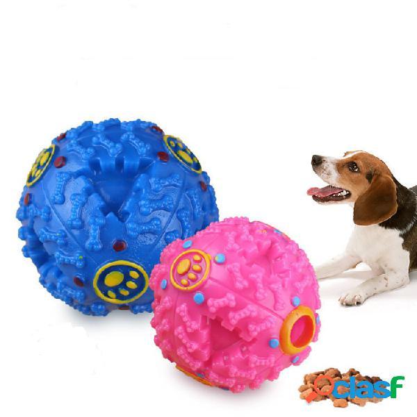 Pet leaking ball cachorro brinquedo não-tóxico de borracha molar brinquedo molar soando mordida esfera chamada estranha