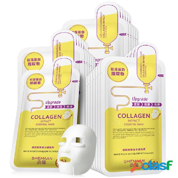 Colágeno único máscara hidratante hidratante brilhante colágeno da pele máscara