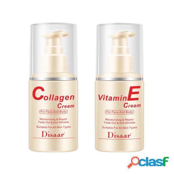 Creme antienvelhecimento de consolidação do colagénio da pele do creme hidratante do vitamina para a cara e o corpo