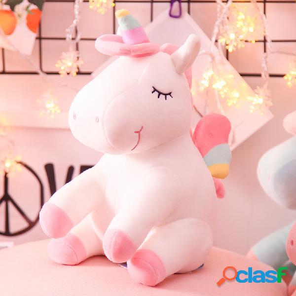 35/45/60 cm dos desenhos animados unicórnio brinquedos de pelúcia travesseiro pele-friendly soft boneca aniversário dos namorados presente da criança