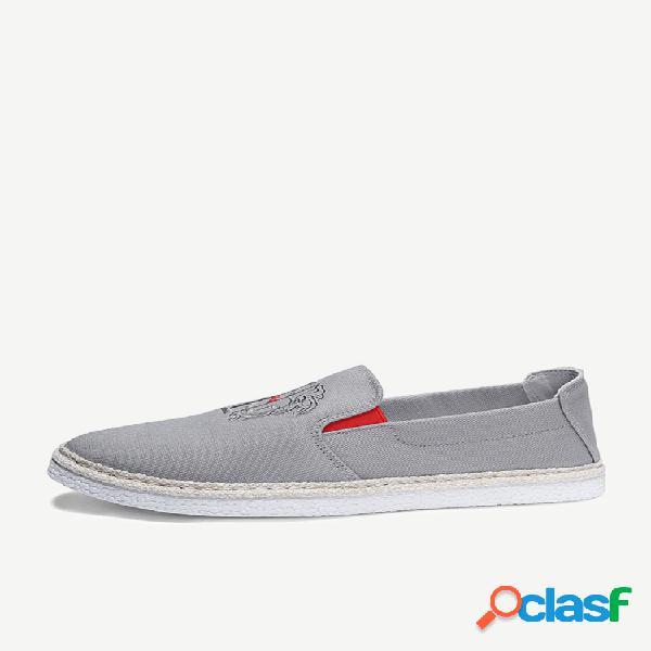 Nova estação de sapatos de pescador palha um pedal sapatos masculinos sapatos de dia dos homens sapatos de maré de pequim sapatos de lona dos homens