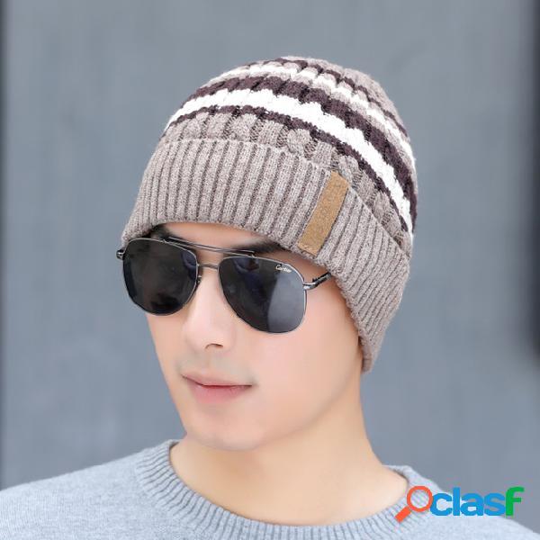 Chapéu capas protetoras para as orelhas quentes para homem chapéu boné de lã da moda
