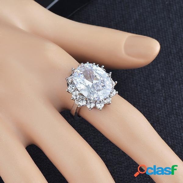 Anéis de diamantes geométricos de metal vintage redonda azul cristal strass anéis de dedo jóias chiques