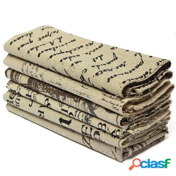 50 * 75cm de tecido de linho de algodão diy boneca materiais craft patchwork cloth