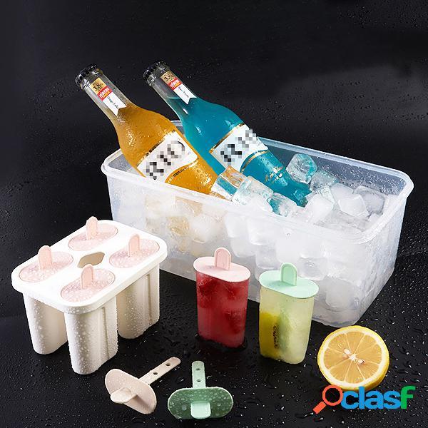 Bebê crianças família reutilizável molde de gelo congelado caseiro diy sorvete de suco de iogurte de frutas com tampas de bloqueio