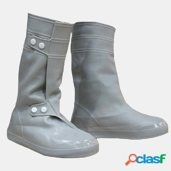 Pvc mulheres man rain shoes cobrir impermeável antiderrapante rain high boots flats
