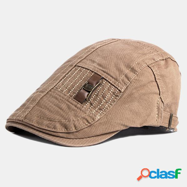 Boné de boina ajustável unisex do pintor classic cabbie de jornaleiro chapéu