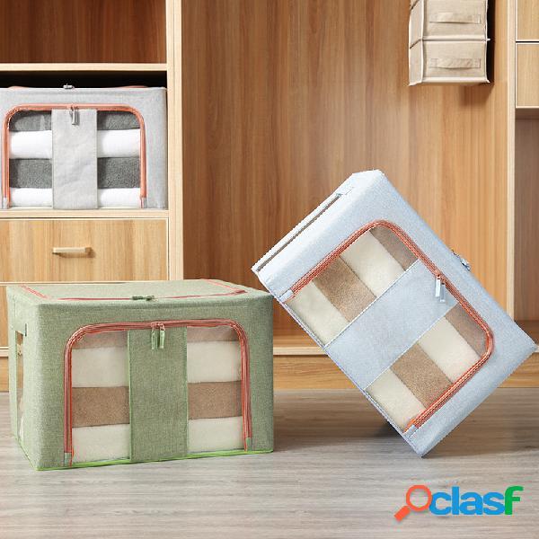 Tecido para janela duplo vertical de algodão e linho quatro acabamentos de estrutura de aço caixa dobramento de grandes dimensões caixa armazenamento caixa